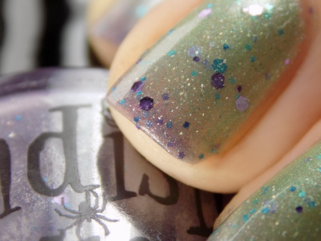 Fiendish Fancies 2nd Anniversary Polish - I Want My Cake Swatches and Review Closeup