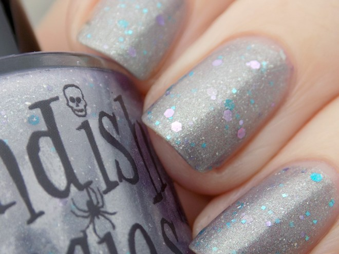 Fiendish Fancies 2nd Anniversary Polish - I Want My Cake Swatches and Review - Natural Light Cold State