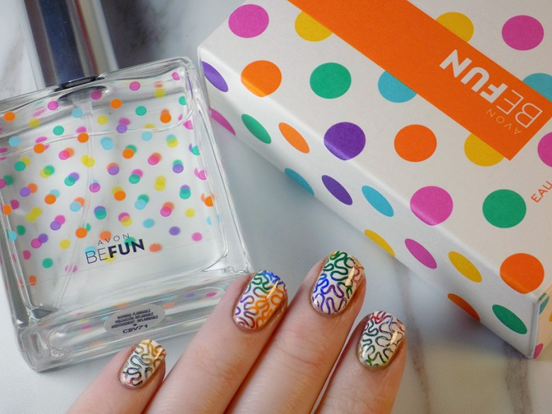 Avon Be fun Fragrance Review and Matching Nail Art