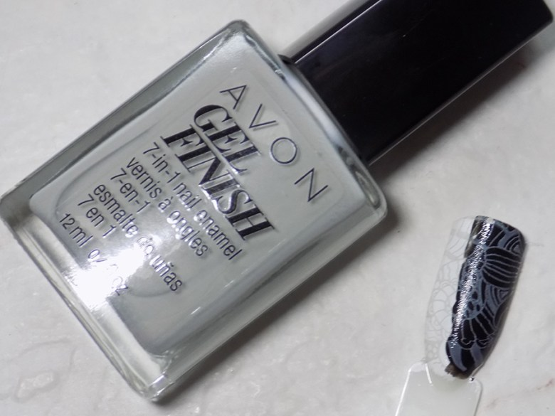 Avon Gel Finish Head In Clouds Nail Polish - Does It Stamp