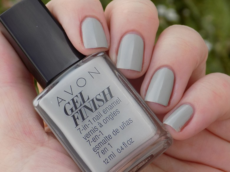 Avon Gel Finish Head In Clouds Nail Polish Swatch in Natural Shade