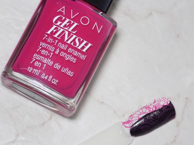 Avon Gel Finish Rose Noir Nail Polish - Does It Stamp