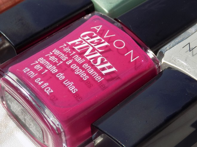 Avon Gel Finish Rose Noir Nail Polish Review