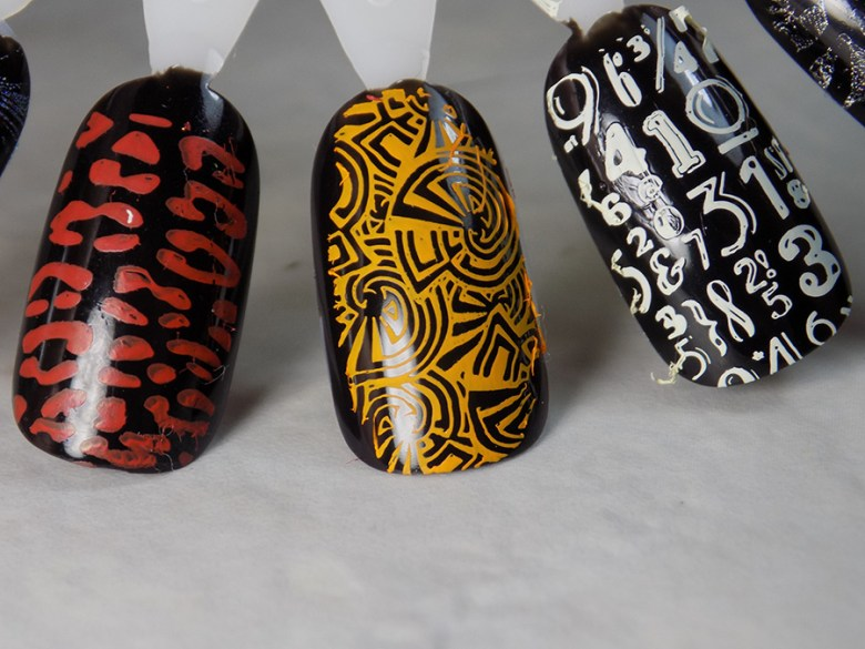 Moyra Sounds of Your World 108 Stamping Plate Swatches - Bottom Row Row Swatches - Beautometry