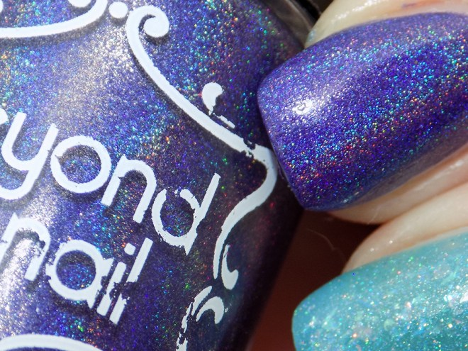 Beyond The Nail Space Cadet Swatches - Blue Holo