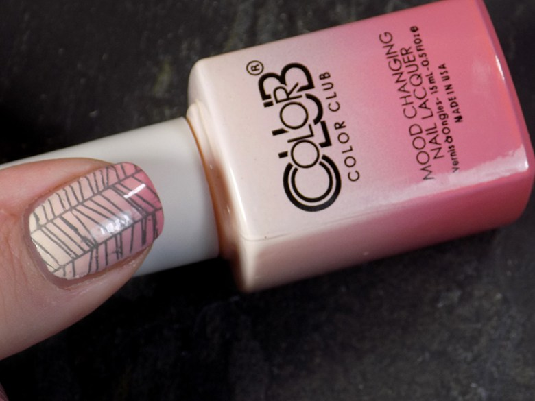 Color Club Mood Changing Polish - Old Soul - Stamped with BM-XL16 Transition