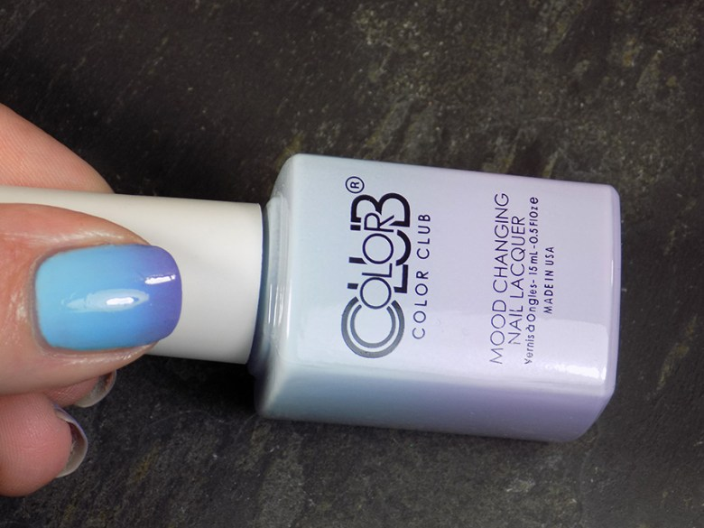 Color Club Mood Polish Blue Skies Ahead Transition State 2