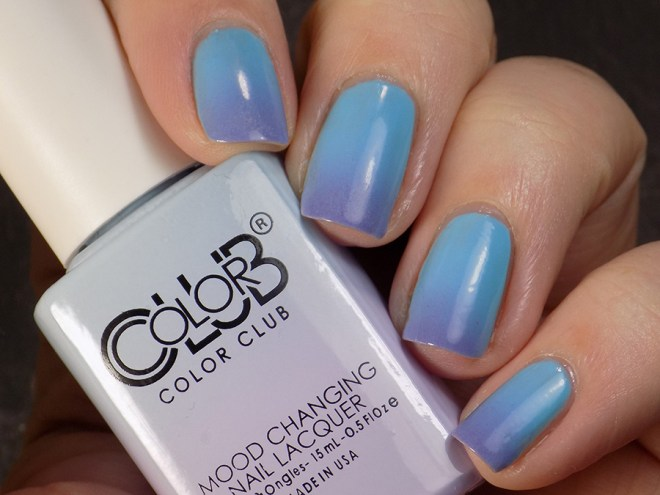 Color Club Mood Polish Blue Skies Ahead Transition State