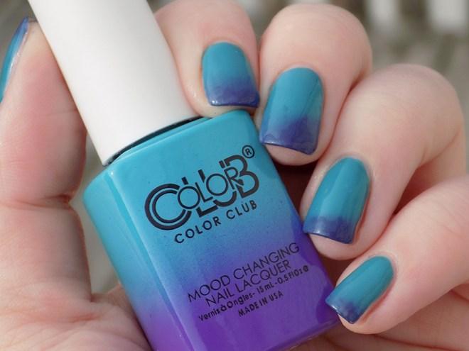 Color Club Mood Polish Serene Green Transition Sunshine