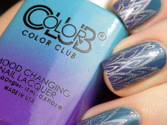 Color Club Serene Green Nail Art