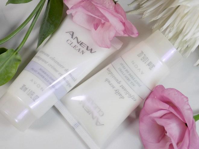 Avon A Box Fresh and Clean Fall 2017 - Avon Anew Clean Cream Cleanser and Daily Scrub