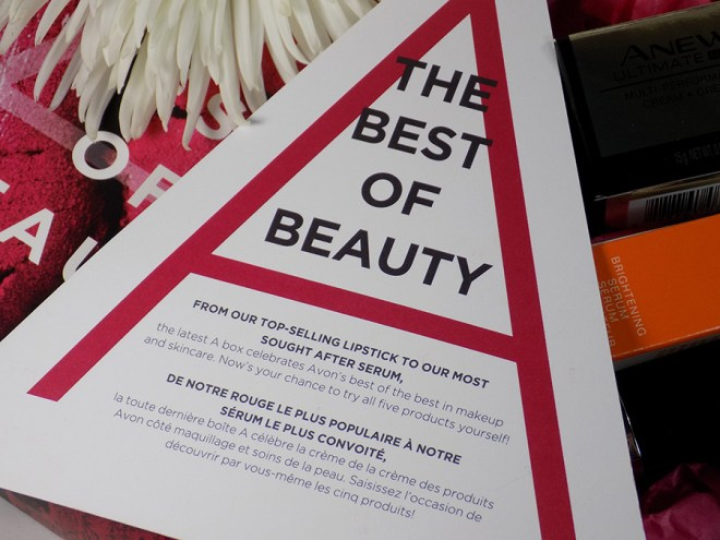 Avon A Box The Best of Beauty Fall 2017 - Best of Beauty Info Card