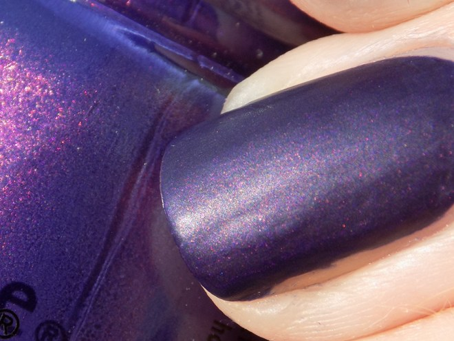 China Glaze Crown for Whatever Halloween Happily Never After Closeup Swatch Showing Shimmer