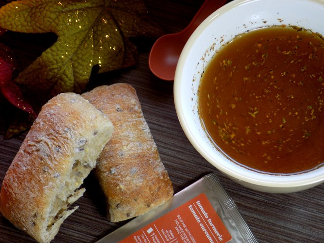 Davidstea Tomato Turmeric Soup Tea Review - Brewed Soup Tea