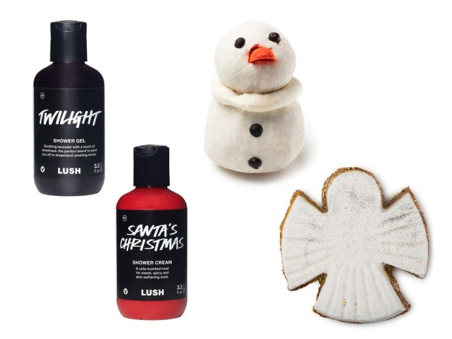LUSH 12 Days of Christmas 2017 - Shower Gel and Bath Products