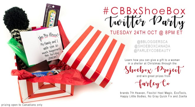 ShoeBox Project CBB Twitter Party Social Shares