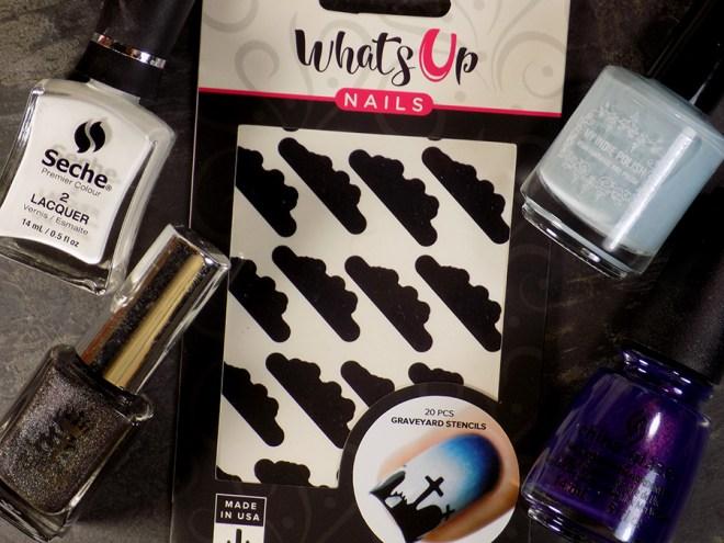 Whats Up Graveyard Nail Stencils Nail Art - Nail Polish Canada - Supplies