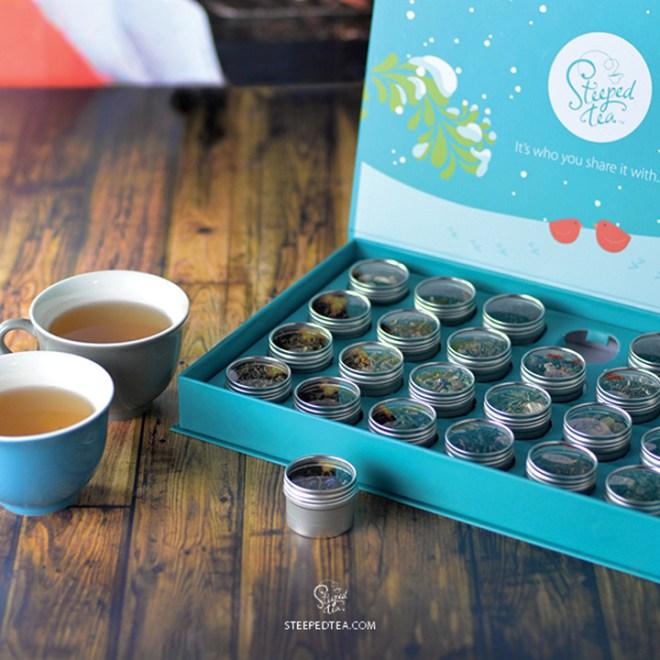 Steeped Tea Advent Calendar For Tea Lovers 2017 Tea Nail Polish