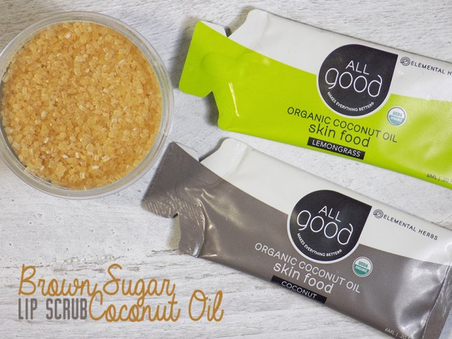 All Good Coconut Oil - Brown Sugar Lip Scrubs