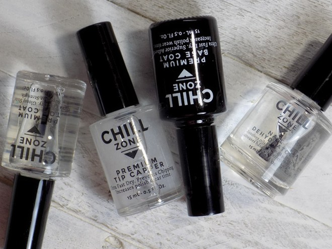 Review: The Chill Zone Nail System: Base Coat, Nail Dehydrator, Tip Capper and Top Coat