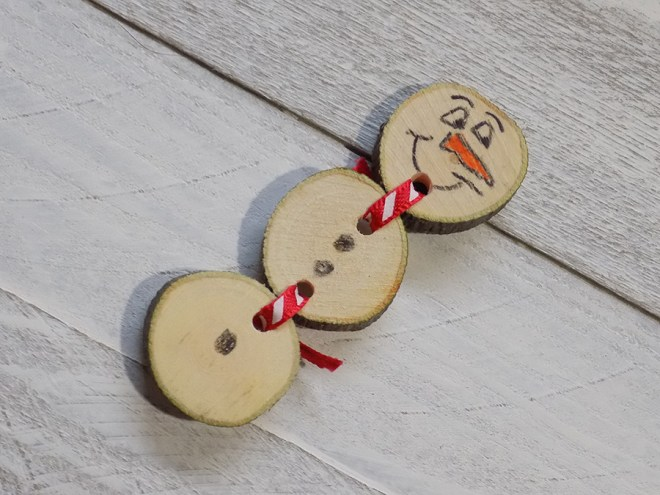 Craftadian Mississauga Holiday Market 2017 - Bubbas Woodturning Snowman Magnet