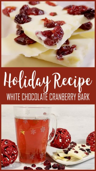 How to make White Chocolate Cranberry Bark - Nut Free Recipe - DAVIDsTEA White Cranberry Bark Tea - Holiday 2017