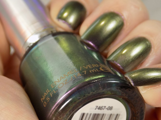 Revlon Amethyst Smoke Duochrome Swatches and Review - Holochromes Collection - Green-Yellow Purple Shift