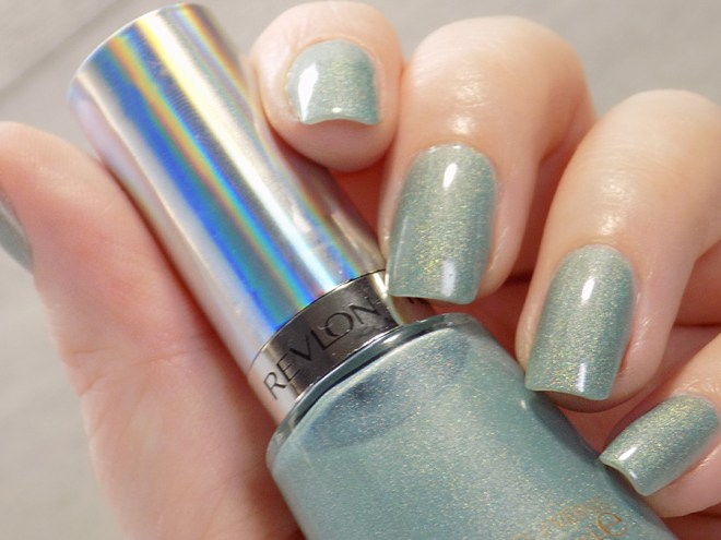 Revlon Fairy Dust HoloChrome Polishes Swatch in artificial light