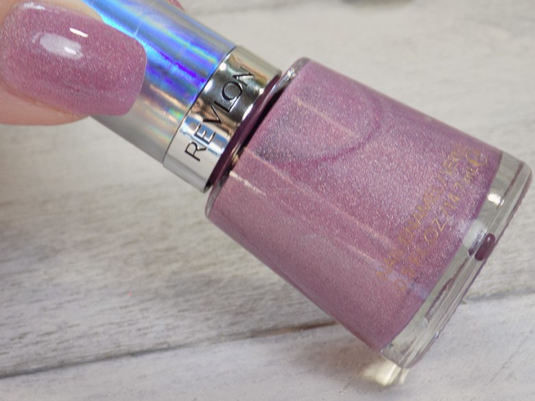 Revlon Galactic Pink Holographic Polish Swatches Holochrome Collection 2017 - Bottle and Thumb