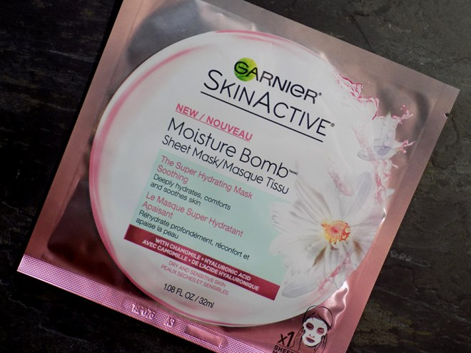 Cold and Flu Skincare Saviours - Garnier Moisture Bomb Soothing Mask Review