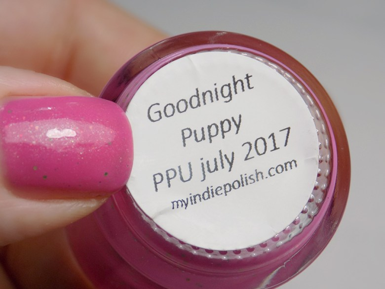 My Indie Polish Goodnight Puppy Valentines Day Nail Art Swatches and Review - Base
