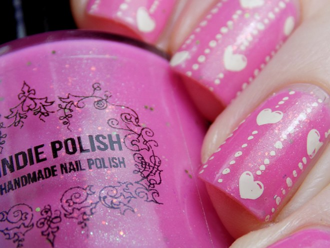 My Indie Polish Goodnight Puppy Valentines Day Nail Art Swatches and Review - Shimmer