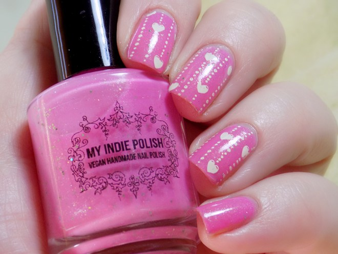 My Indie Polish Goodnight Puppy Valentines Day Nail Art Swatches and Reviews