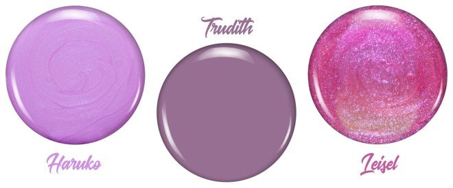 Zoya Thrive Collection Review - Haruko - Trudith - Leisel
