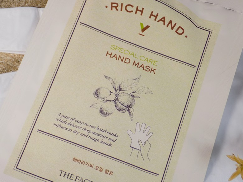 TheFaceShop Rich Hand Mask V Review - Packaging