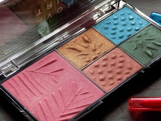 Avon True Colour Sunset Beach Palette Swatches and Review