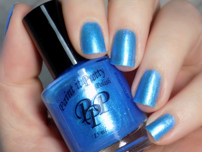Paint It Pretty Polish Blue Me Away at IEC - IEC Exclusive - Swatch in Sunlight