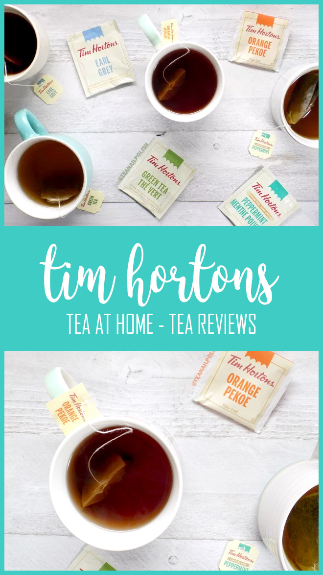 Tim Hortons Tea at Home Tea Bag Reviews - Orange Pekoe - Earl Grey - Peppermint - Green Tea