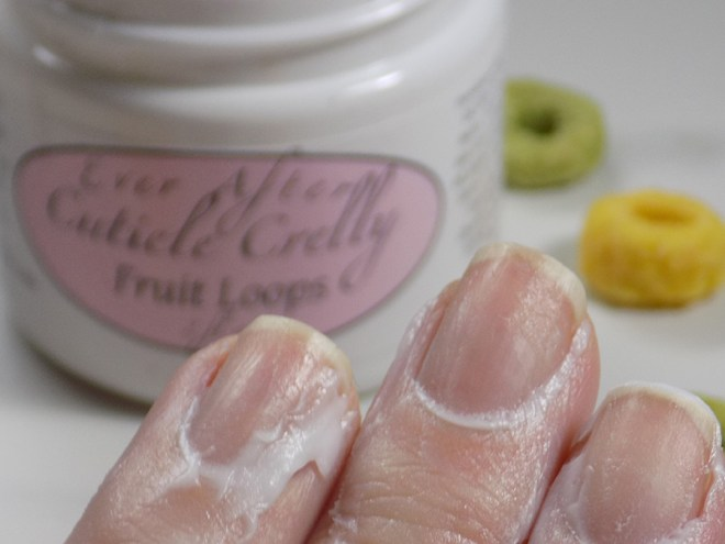 Ever After Fruit Loops Cuticle Crelly - in use