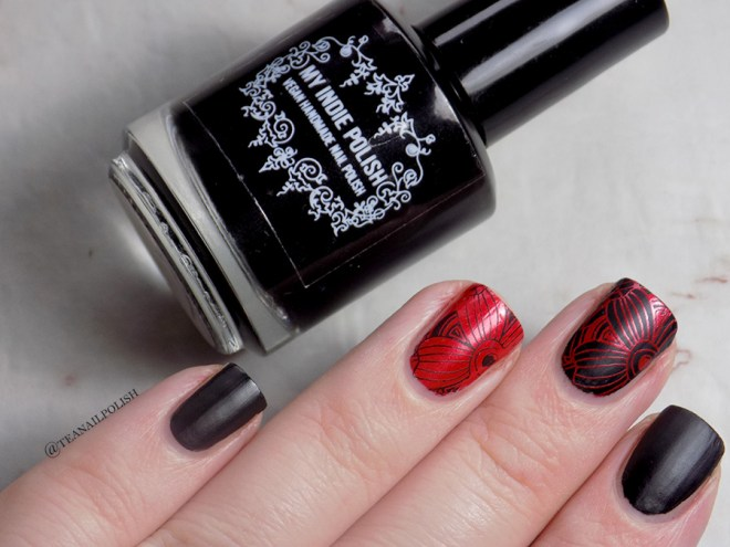My Indie Polish Rat Rod Paint Job Swatches and Review - Charcoal Matte Stamping Polish Canada