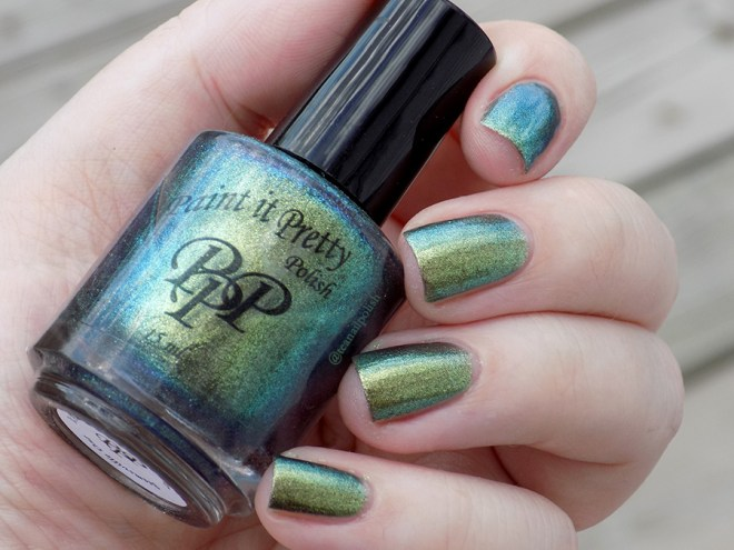 Paint It Pretty Polish It Ain't Over Till It's Clover Swatches - Duochrome - Swatch in Natural Light