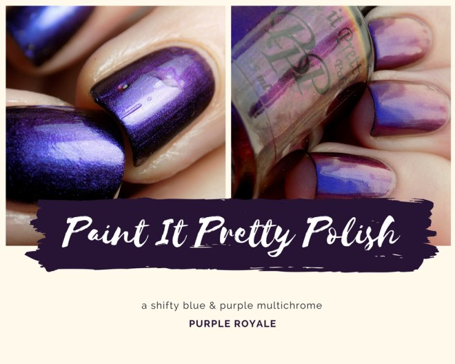 Paint it Pretty Polish - Purple Royale - Swatch