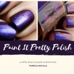 Paint It Pretty Polish Purple Royale Swatches