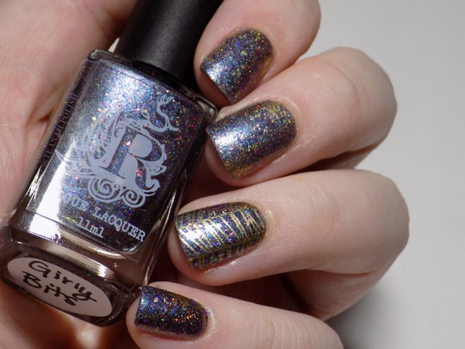 Rogue Lacquer Girly Bits Swatches with Gold Accent Stamping