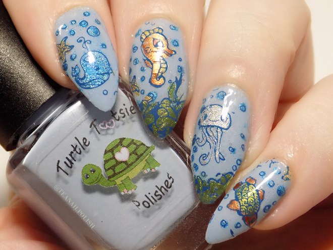 Sea Creature Nail Art CBBxManiMonday July 23