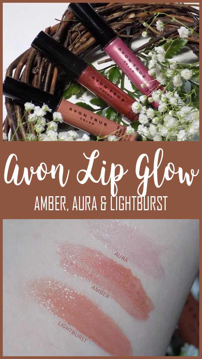 Avon Lip Glow Swatches in Amber, Aura & Lightburst - PIN