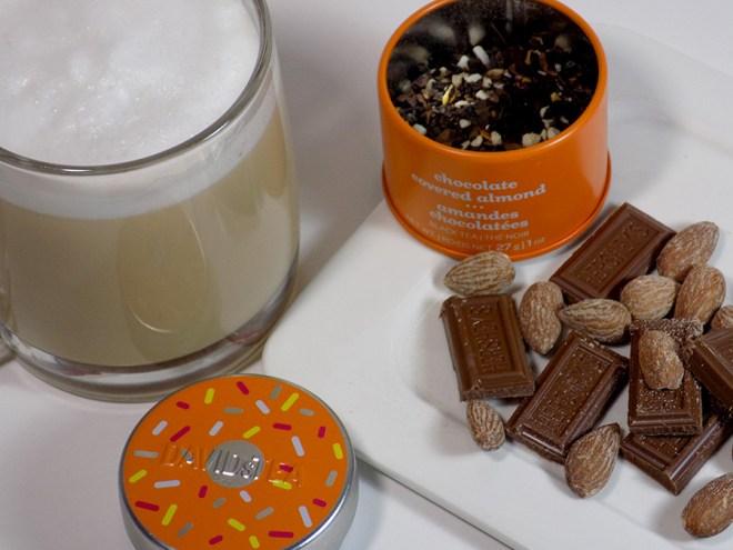DAVIDsTEA Chocolate Covered Almond Tea Latte Review