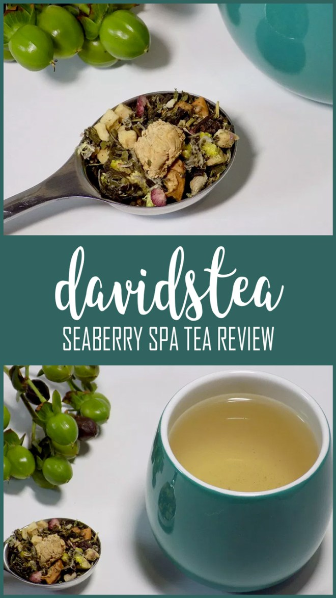 DAVIDsTEA Seaberry Spa Tea Review PIN