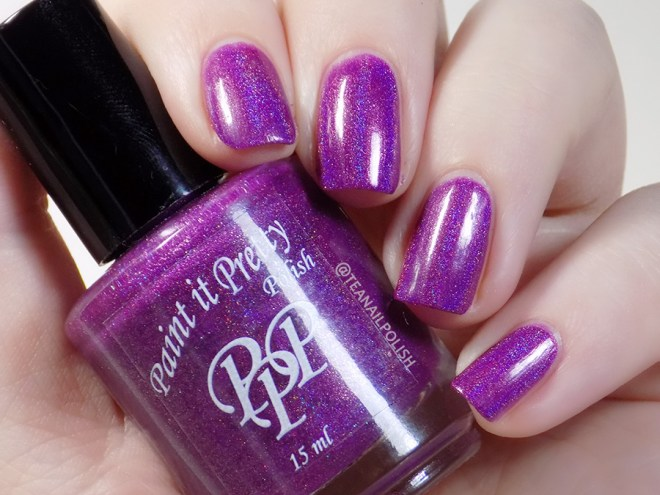 Paint it Pretty Polish Everything Is Better Purple - Artificial Light Swatches 2