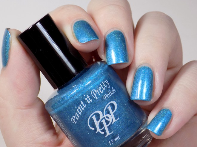 Paint it Pretty Polish I Dream in Teal Swatches - Artificial Lighting 2
